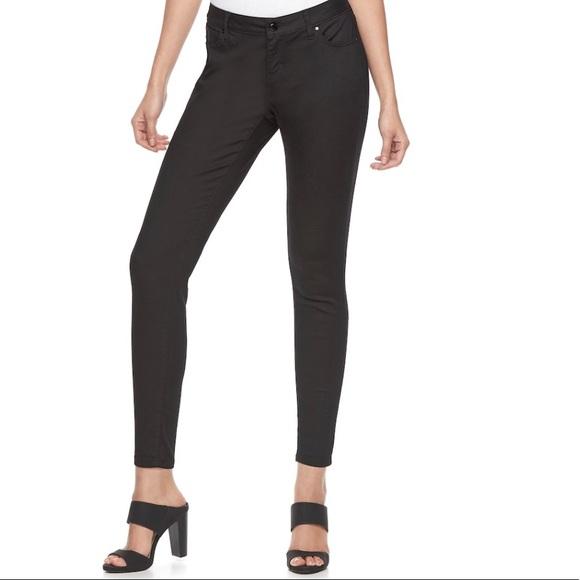 Jennifer Lopez Denim - Jennifer Lopez Black Tie Skinny Jeans NWT